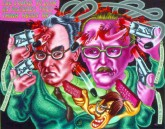 Peter Saul, 'Art Critics Suicide', Acrylic, Alkyd on Canvas, 1996