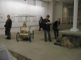 "Gordon Matta-Clark ""Fresh Air Cart"" 1972 steel, canvas, rubber, plus separate bags of oxygen masks 71 x 91 x 34 inches Courtesy Gordon Matta-Clark Estate & David Zwirner Gallery, New York"