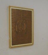"""Montien Boonma """"Drawings in Herbs"""" 29.5 x 22.5 inches herbs on paper"""
