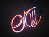 "Jeff Chiplis, 'Eeeraa' 26"" x 29"" 2002 Neon"