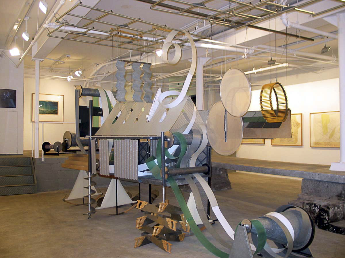 Dennis Oppenheim Armatures for Projection: The Early Factory Projects. Curated by Raul Zamudio. White Box, 2004 (6)