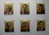 Gordon Cheung. Top Ten Billionaires 2008. 16 x 24 in. Stock listings, ink, acrylic gel, spray paint on canvas. Series of 10. 2009