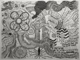 Dominic McGill Doppelganger, 2010 Graphite on paper 22 x 30 inches Courtesy of Derek Eller Gallery