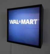 "Christoph Draeger, Walmart, Lightbox, 13"" x 13"" x 5"", 2006."