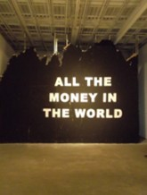 Isaac Aden, All the Money in the World, 2011, wall drawing, 14' x 20'.