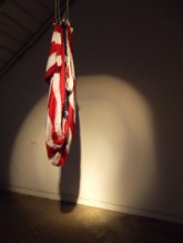 Daniel De Paola, For Your Entertainment, 2011, Performance installation wire cable, flag .