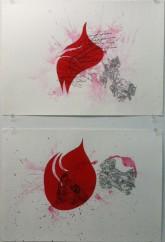 Shahram Entekhabi Untitled, 2010 2 watercolors 9 x 12 inches Courtesy of the Bureau of Curatorial Affairs