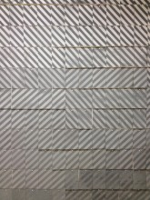Antoine Lefebvre. Homage to Anges Martin. Silkscreen and rubber stamp on cardboard. Dimensions variable. 2012.