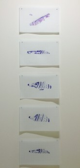 Elodie Lombarde. Concordia, ballpoint pen on graph paper. 10.8 x 16.8 inches each. 2012