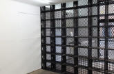 Jan Henderikse Untitled [b6], 1962-2013 Installation with crates 113 x 103 inches Courtesy of the artist