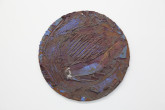 Louise Fishman Tondo, from the Circle paintings series, 1974 Oil and razor blade on Masonite 11 ½ diameter Courtesy the artist and Cheim & Read